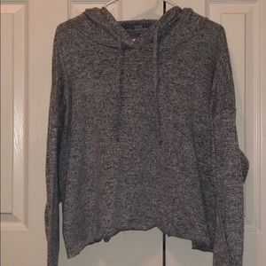 Super soft cropped grey hoodie